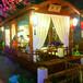 上海靜安餐飲船廠家制造7米室內就餐船6人坐主題仿古船宴