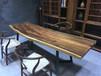 家有名木实木茶桌现代简约胡桃木大板老板桌办公桌原木餐桌书画案