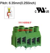 MB912-635台湾DECA进联间距6.35铜芯绿色PCB接线端子