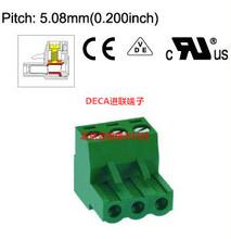 MC100-508正品原装DECA进联间距5.08绿色插拔式端子