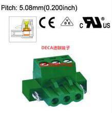 MC101-508台湾DECA进联间距5.08带法兰绿色接线端子