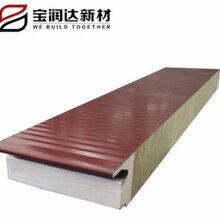 40mm电动车库门门板宝润达聚氨酯保温防水彩钢门板