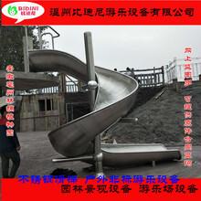 高空螺旋成人304不锈钢滑梯定制户外公园大鲨鱼游乐设备厂家直销