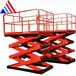 泰安厂家直销剪叉式升降机固定式升降机非标定制升高5米载重300kg