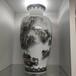 顧正運大師作品《秋色韻山鄉》花瓶,釉下五彩手繪花瓶,國瓷1號店