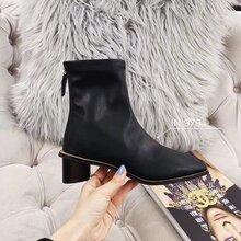 19新款韩国女士短靴,IN979皮靴女靴小短靴图片
