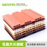 货源供应森泰木塑材料生态大长城板防水阻燃墙面装饰大长城板