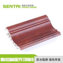 厂家直销森泰集成墙板配件顶角线防水阻燃竹木纤维家装顶角线条