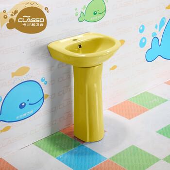 幼儿园立柱盆儿童柱盆卫生间小柱盆陶瓷立柱盆齐发国际请致电询盘