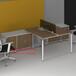 云南德宏办公家具钢架办公桌公司职员桌屏风定制金属桌脚厂家定制