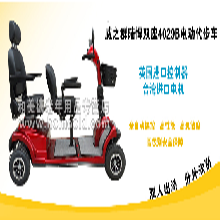 威之群陆悍双双4029B电动代步车双人座老人代步车老年人代步车