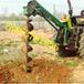 福建泉州拖拉机带植树挖坑机电线杆子挖坑机价格