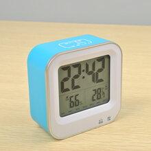 厂家直销温湿度电子闹钟可充电