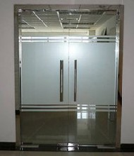 北京更换玻璃门订做钢化玻璃门