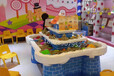粉藍城堡沙桌太空沙桌游樂設備