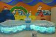 双海豚鱼池儿童钓鱼池游乐设备