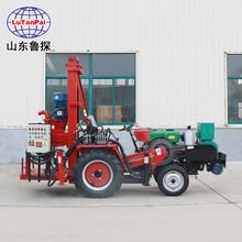 大口徑拖拉機打井機家用百米電動液壓鉆井機帶發電機圖片