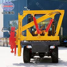 DZC-Ⅰ型裝載式護欄打拔一體機路面打樁施工作業圖片
