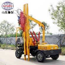 DZL型小四輪護欄打樁機打拔鉆一體機柴油機動力全液壓機械傳動圖片