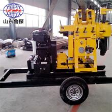 加輪子移機功能的工程地廠家自營XYX-200輪式液壓巖芯鉆機圖片
