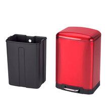 不锈钢垃圾桶脚踏厨房欧式创意家用酒店大号静音垃圾筒-30L