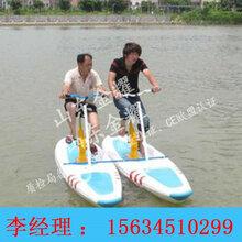 高档水上骑行自行车工厂直销水上双人自行车玻璃钢脚踏车