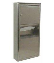美国Bobrick多功能架,保必丽B-3699纸巾架与垃圾箱优游注册平台合柜图片