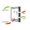 创诗新风壁挂式新风换气机无管道新风系统(PM25过滤/全热交换/单向净化/