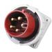QX834启星5芯32A防护IP67工业暗装插头固定
