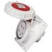 啟星QX14855芯16A防護IP67工業暗裝斜插座固定式防水防塵