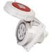 啟星QX15515芯32A防護IP67工業暗裝斜插座防水防塵固定