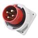 啟星QX8324芯32A防護IP67工業暗裝插頭防水箱體固定