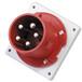 工業插頭QX16885芯63A防護IP44暗裝直插頭