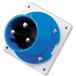 工业插头QX19813芯63A防护IP44暗装直插头
