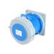工業插座QX-12643芯63A防護IP67暗裝直插座防水