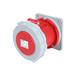 工業插座QX-11244芯63A防護IP67暗裝直插座經濟型