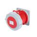 工業插座QX-11285芯63A防護IP67暗裝直插座
