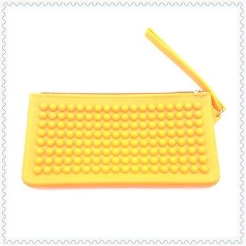 創意設計糖果色硅膠零錢包零錢袋時尚女士手拿錢包防水硅膠錢包現模定制