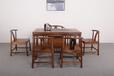 家有名木新中式茶桌胡桃木悠然茶桌六件套