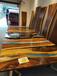 南美胡桃木实木大板桌树脂艺术简约茶桌原木书桌办公洽谈