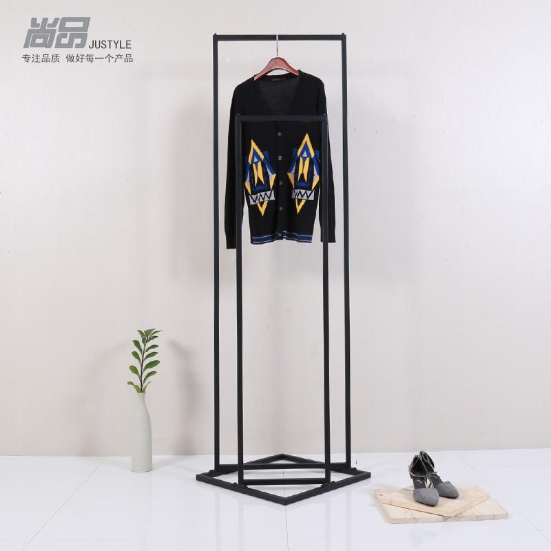 便宜创意高低服装展示架立体实心正侧挂衣架简约男装店落地式货架-