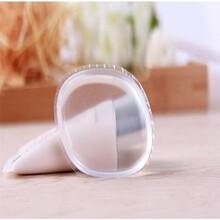 深圳厂家直销美白化妆工具纯硅胶粉扑气垫海绵BB霜大小可定做