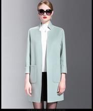 小批量生产手缝双面羊绒双面尼大衣加工