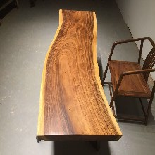 胡桃木实木大板南美花梨原木餐桌茶几办公桌书桌茶台咖啡桌现货
