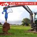 挖掘机螺旋钻地机电线杆钻坑植树挖坑机护栏打桩机光伏桩打孔钻机