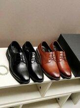 馳場男鞋冬季商務皮鞋青年真皮潮鞋婚鞋職業正裝鞋子男英倫德比鞋