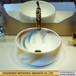 簡約臺上盆洗手盆圓形家用衛生間創意陶瓷面盆個性藝術臺上洗臉盆