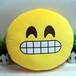 新款创意QQ表情emoji毛绒玩具抱枕厂家直销腰靠手捂可定制加logo
