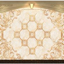 花开富贵背景墙客厅3D立体电视背景墙