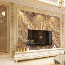 中式简约复古卧室客厅集成板背景墙厂家直销玄关山水情瓷砖背景墙
